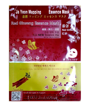 Маска с Женьшенем Ja Yeon Mapping Red Ginseng Essence Mask