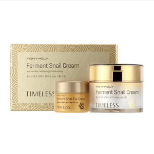 Набор кремов с муцином улитки для лица и век Tony Moly Timeless Ferment Snail Cream