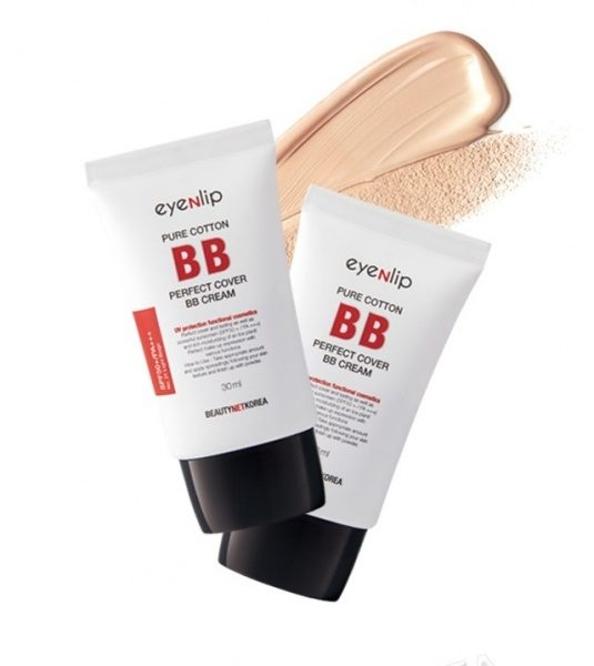 BB крем с идеальным покрытием Eyenlip Pure Cotton Perfect Cover BB Cream SPF50+/PA+++