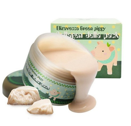 Желейная маска для лица с Коллагеном Elizavecca Green Piggy Collagen Jella Pack